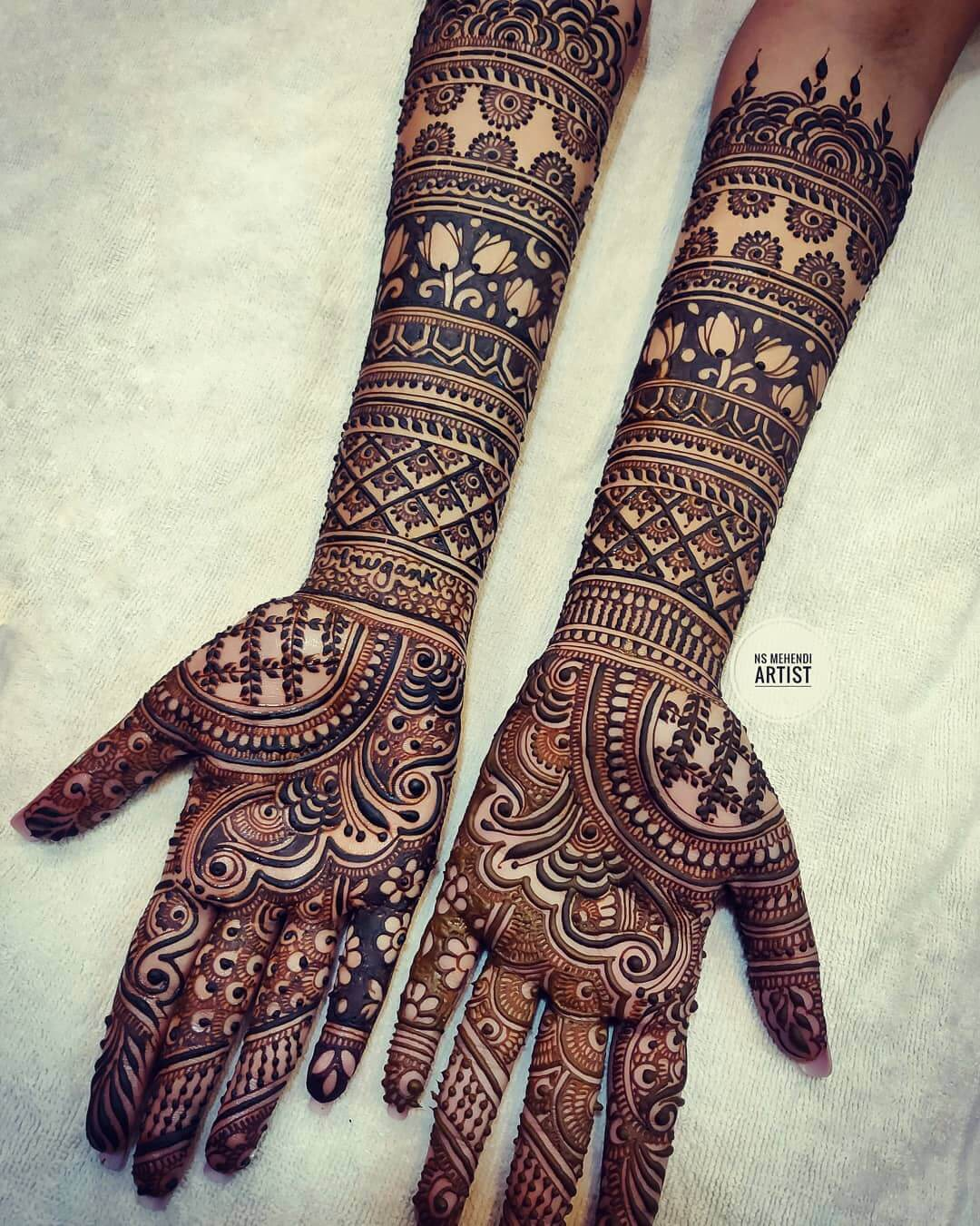 Its all Symmetry Mehndi Designs For Front Hand