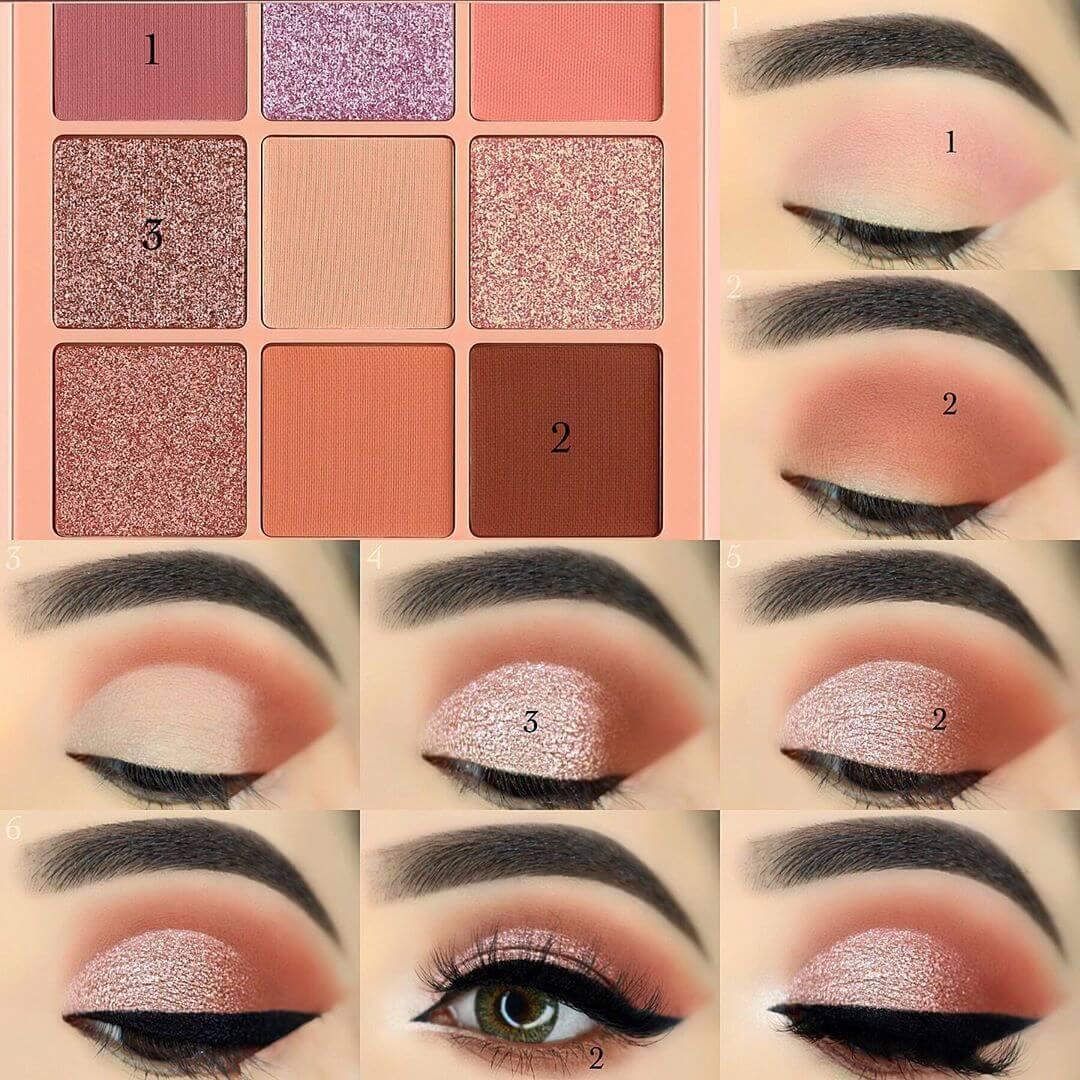 The Soft Pink Glitter Eye Makeup Pictorials For Women