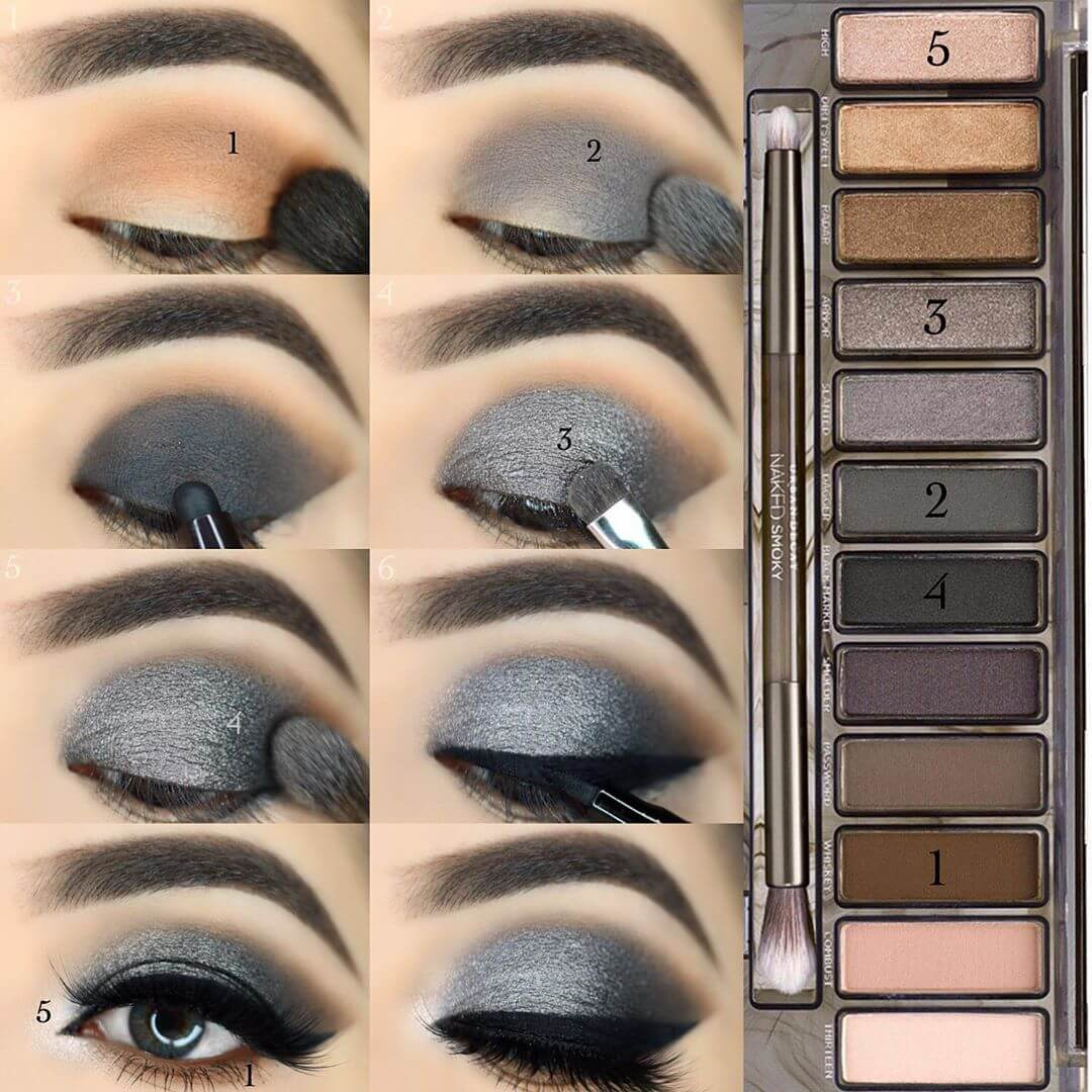 The Metallic Silver Eye Makeup Step by Step Image Tutorials