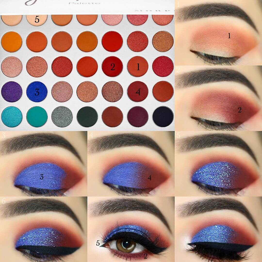 The Shimmery Blue Eye Makeup Pictorials For Women