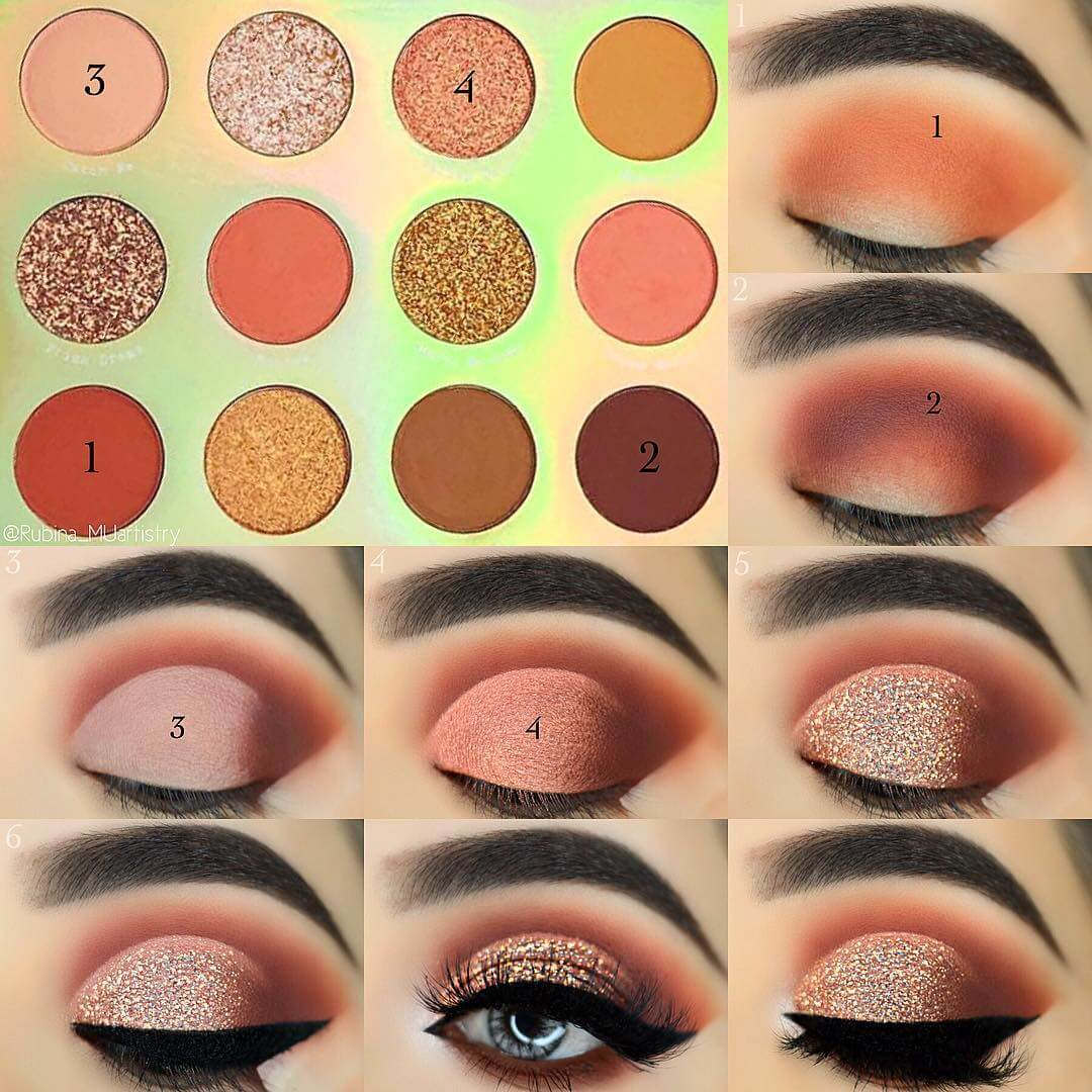 The Sparkly Neutral Brown Eye Makeup Pictorials For Women