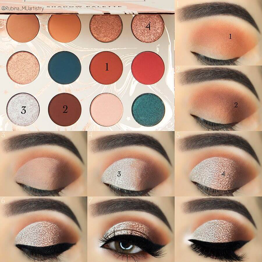 The Black and Brow Mix Eye Makeup Pictorials For Women