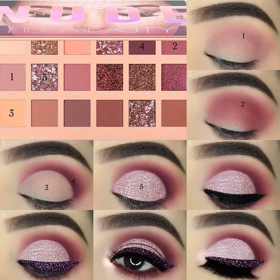 The Dazzling Pink Eye Makeup Step by Step Image Tutorials