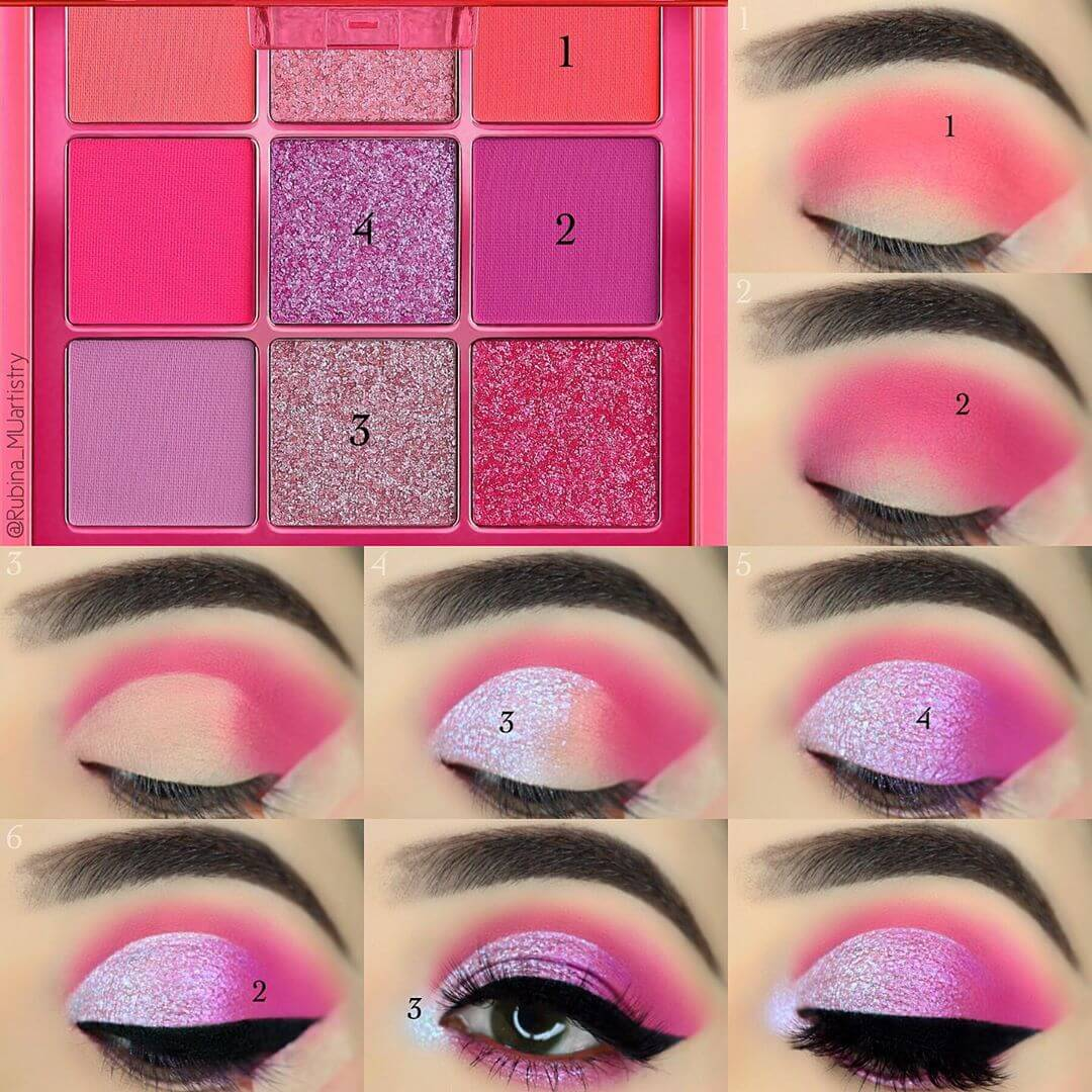 The Creamy Pink Eye Makeup Pictorials For Women