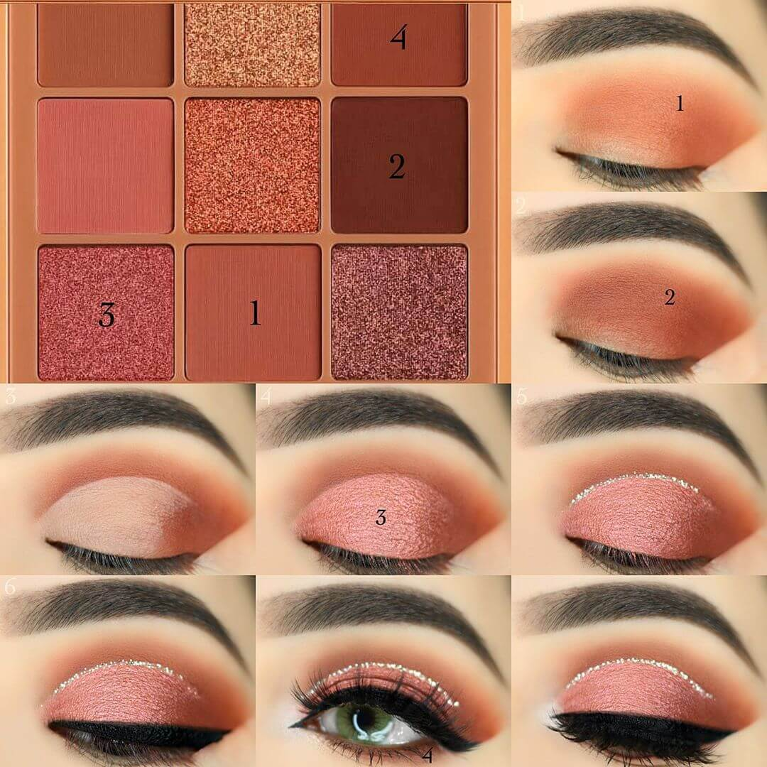 The Rose Gold Look Eye Makeup Pictorials For Women