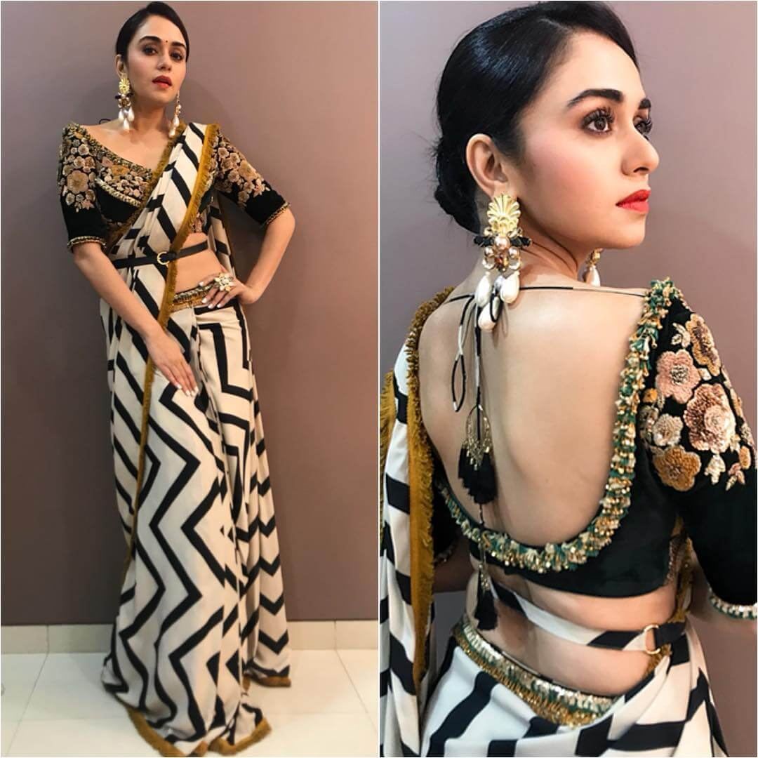 Amruta Khanvilka Backless blouse with tassels will never stop stealing hearts of public