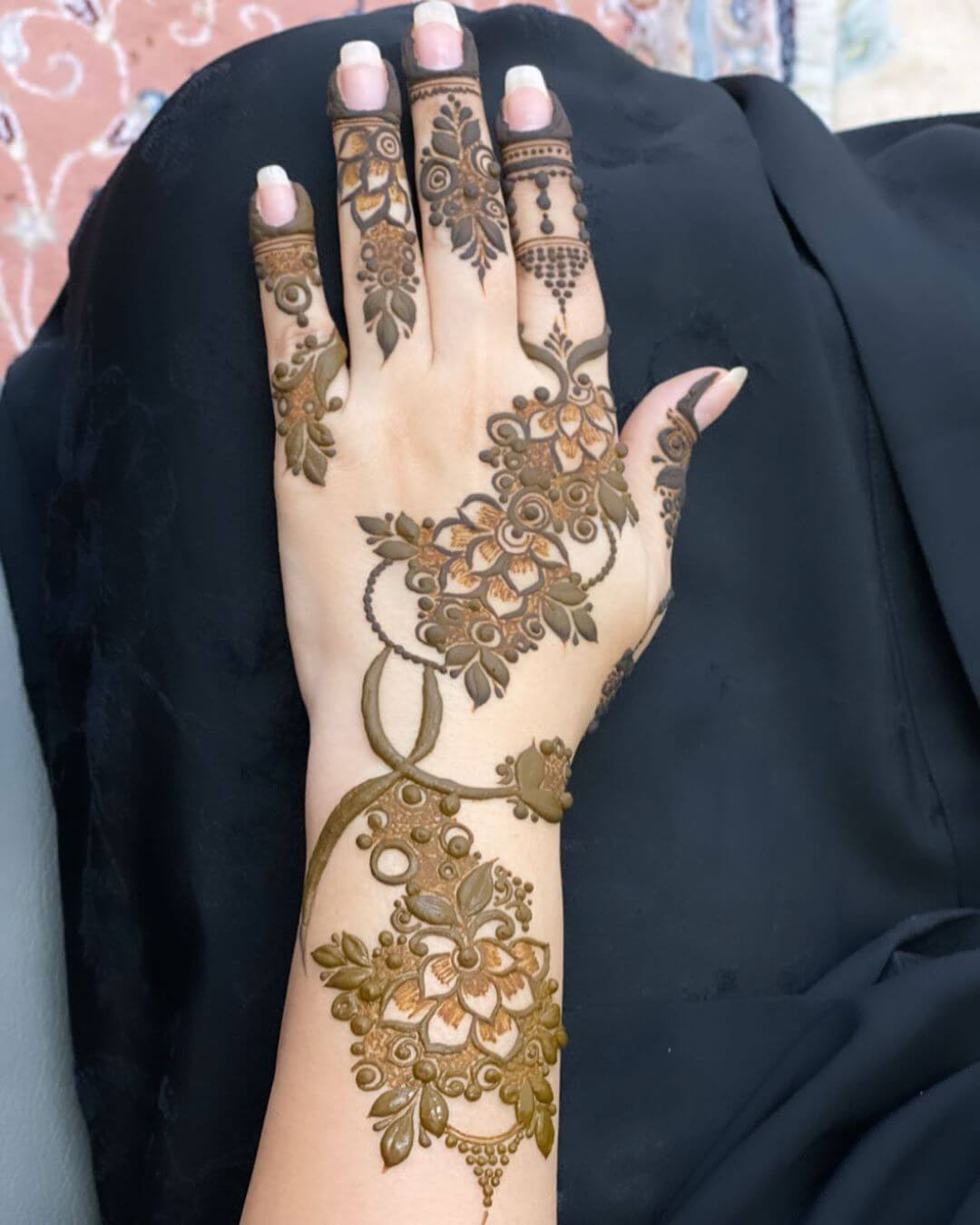 Heavy and Detailed mehndi designs for back hands
