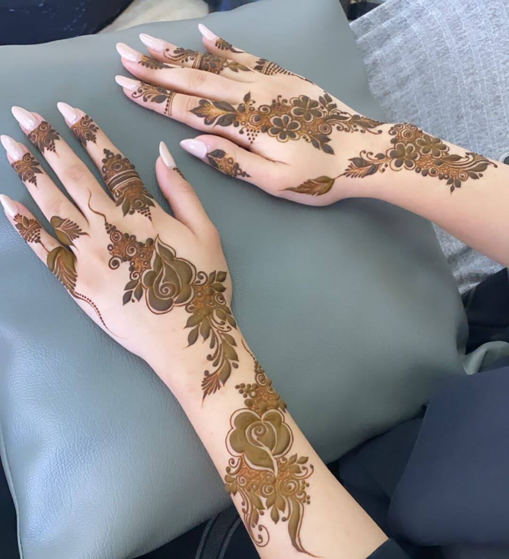 Rosy Affair mehndi designs for back hands