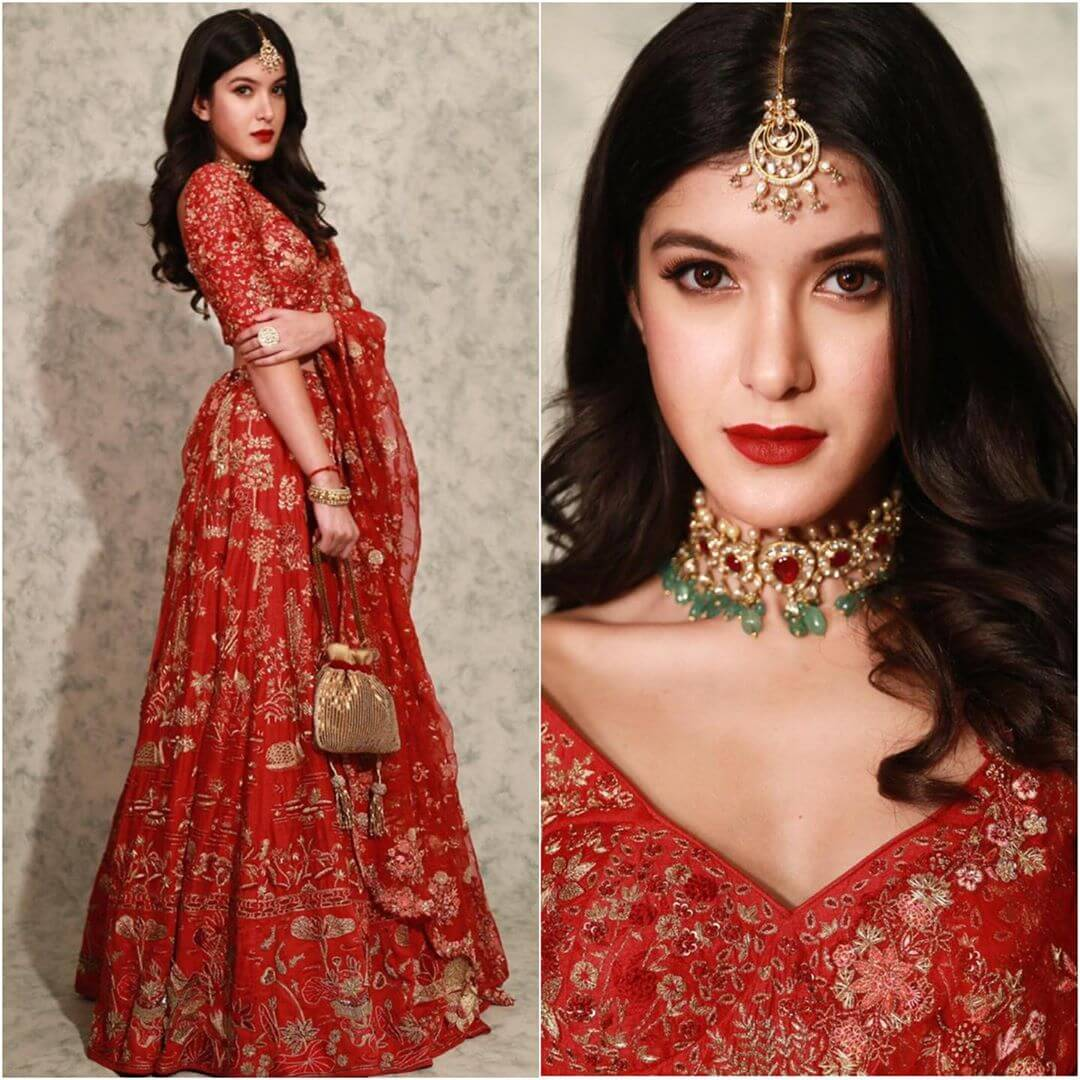 Exquisite Red Lehenga latest Bollywood Inspired Diwali Outfits