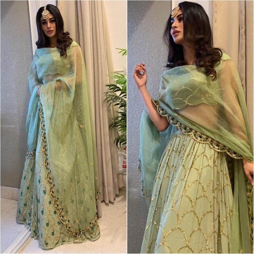 Gorgeous Green Lehenga for Diwali Latest Bollywood Inspired Diwali Outfits
