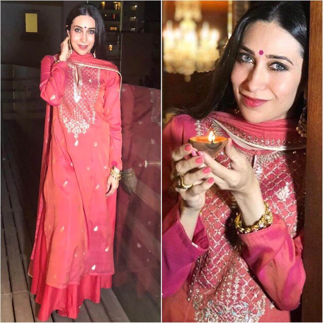 Simple Red Anarkali Latest Bollywood Inspired Diwali Outfits