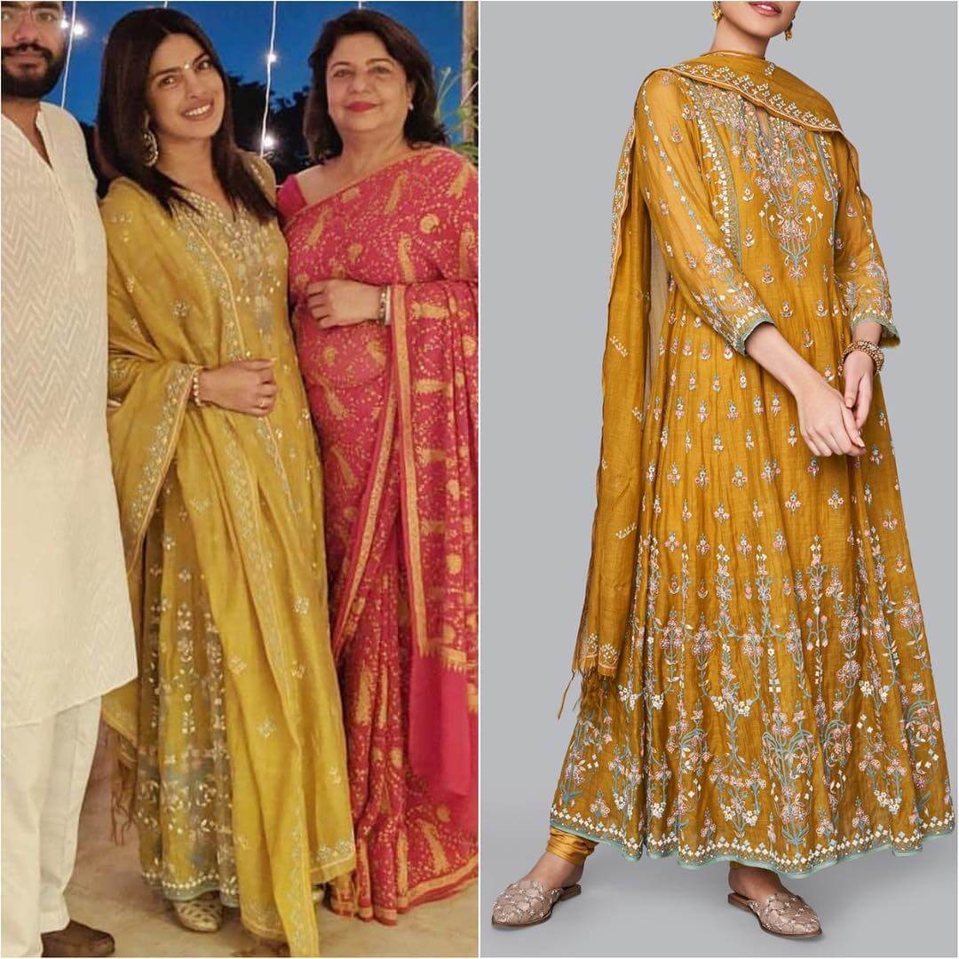 Glam Yellow Designer Anarkali Latest Bollywood Inspired Diwali Outfits