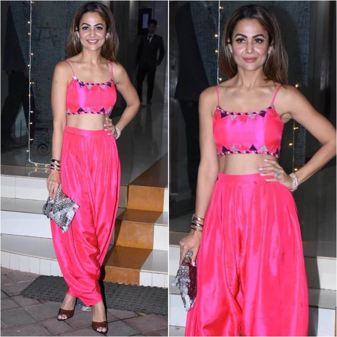 Hot Pink Dhoti Outfit for Diwali Latest Bollywood Inspired Diwali Outfits