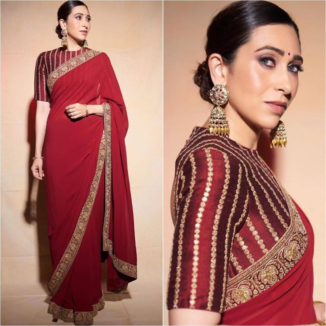 Magnificent Red Saree Latest Bollywood Inspired Diwali Outfits