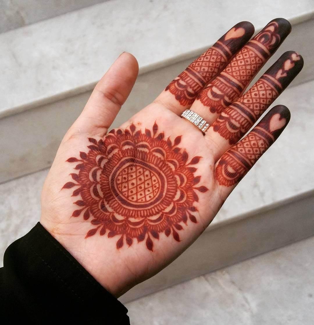 Basic Mandala Mylanchi For Front Hand