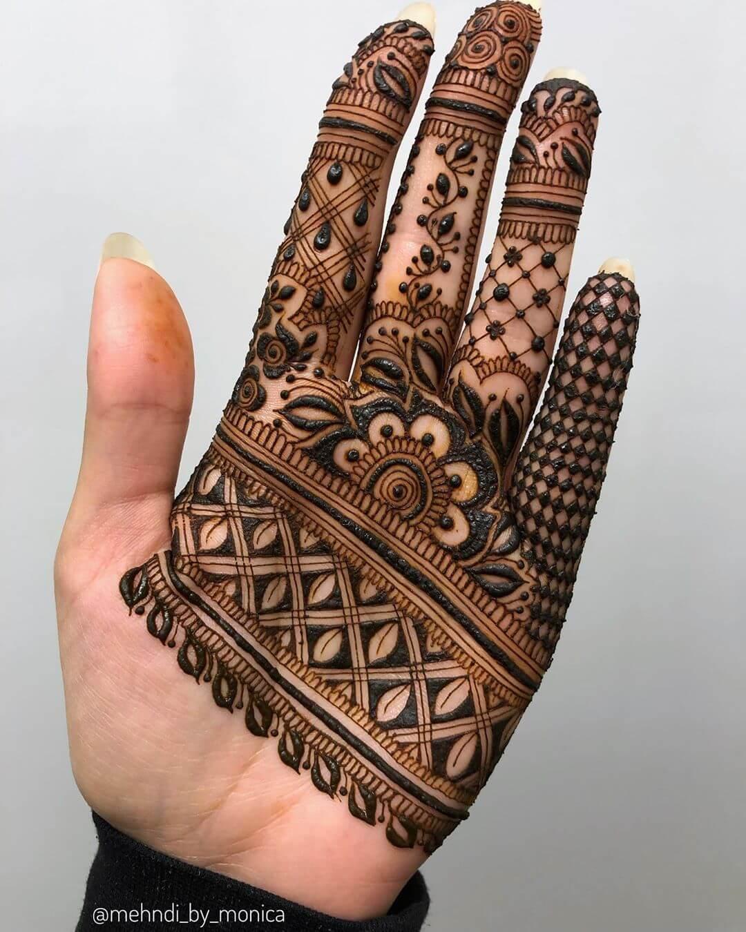 Finger Mylanchi Designs For Front Hand