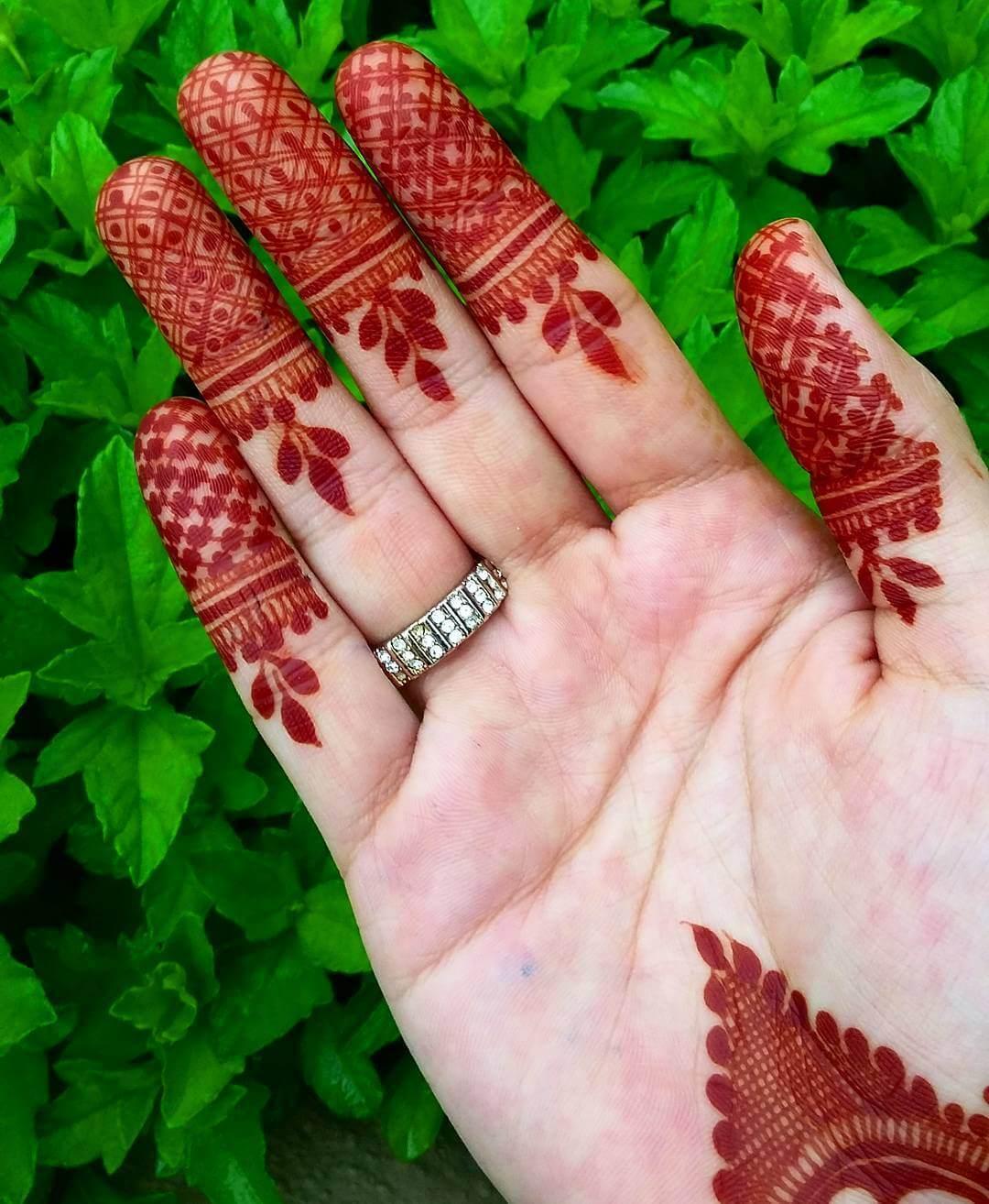 Minimum Finger Mylanchi Design For Front Hand