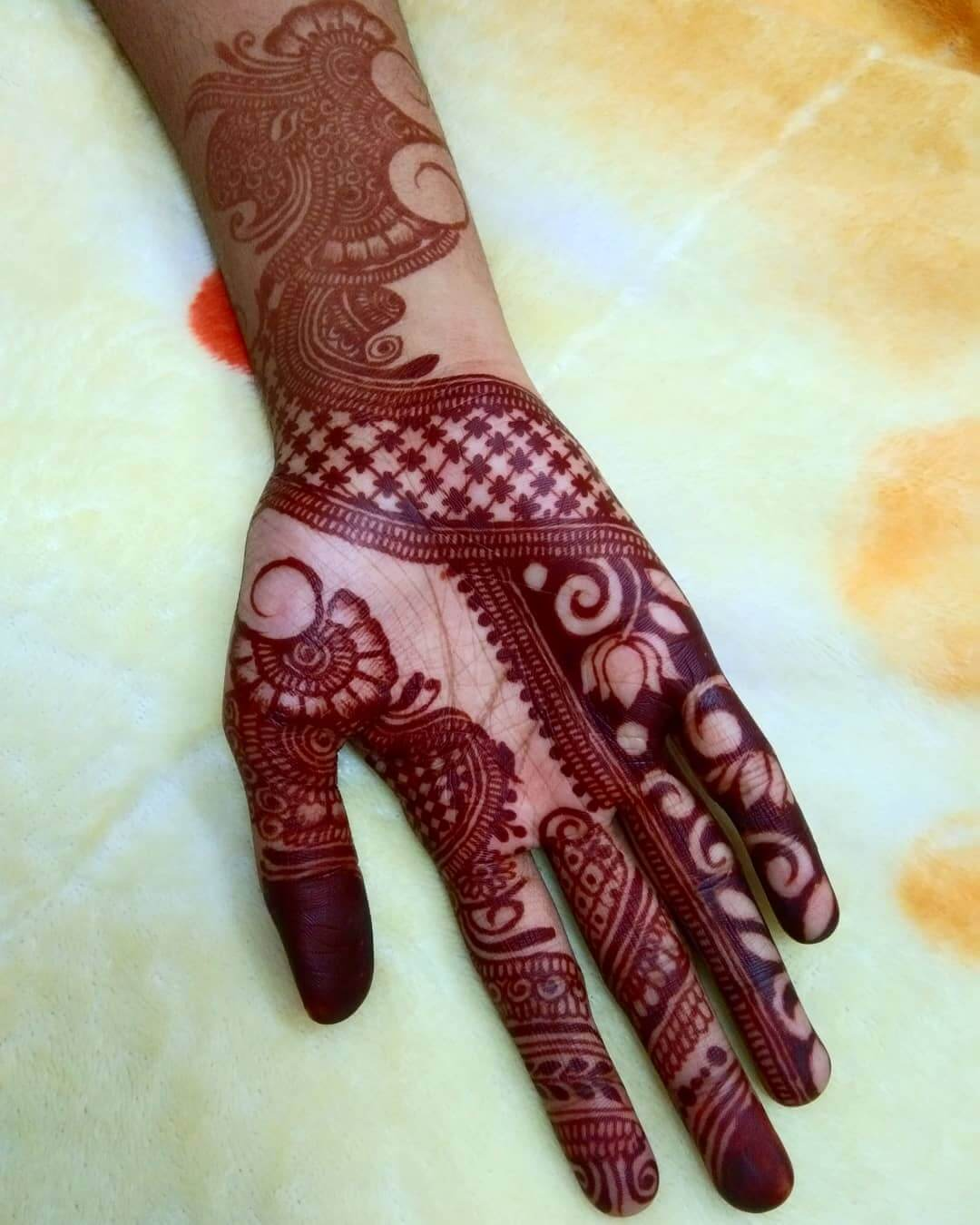 The Power Of Life Mehndi Design For Front Hand