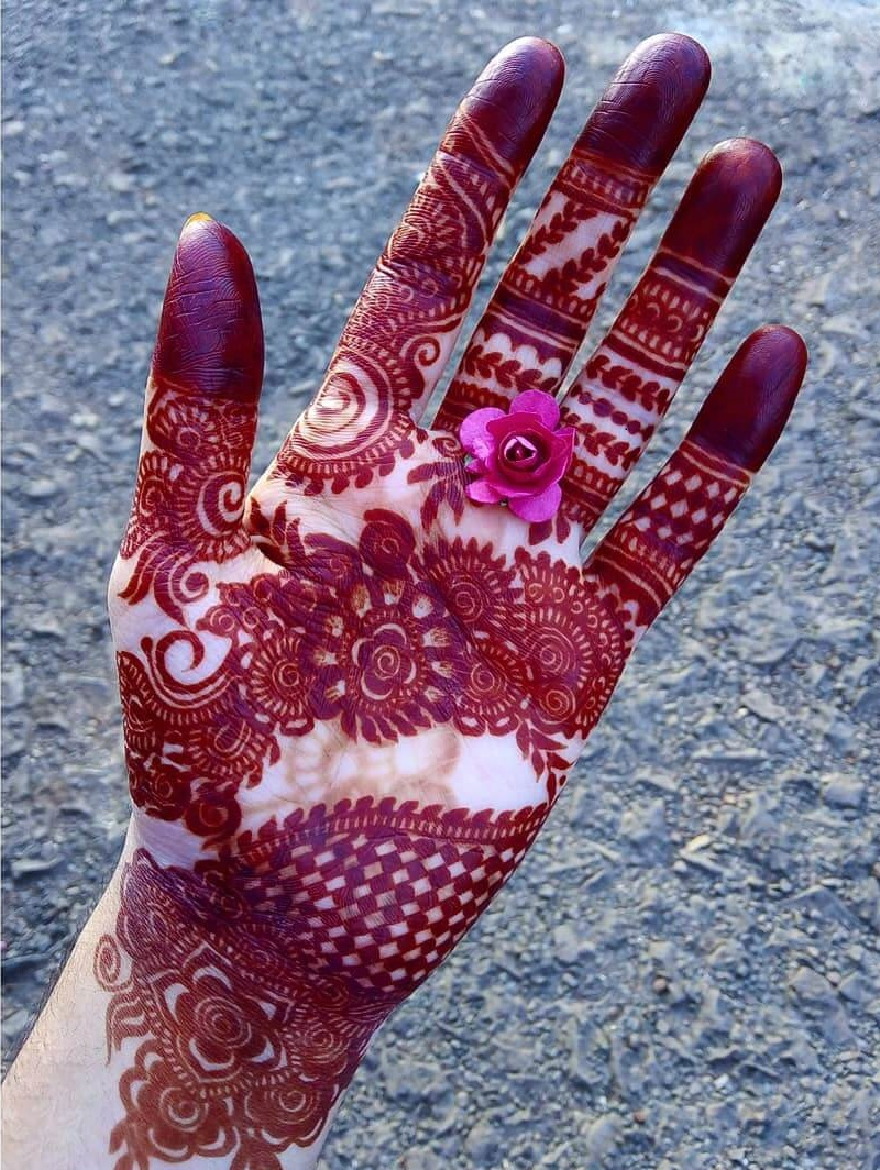 Trail Of Flowers Mehndi Design For Front Hand