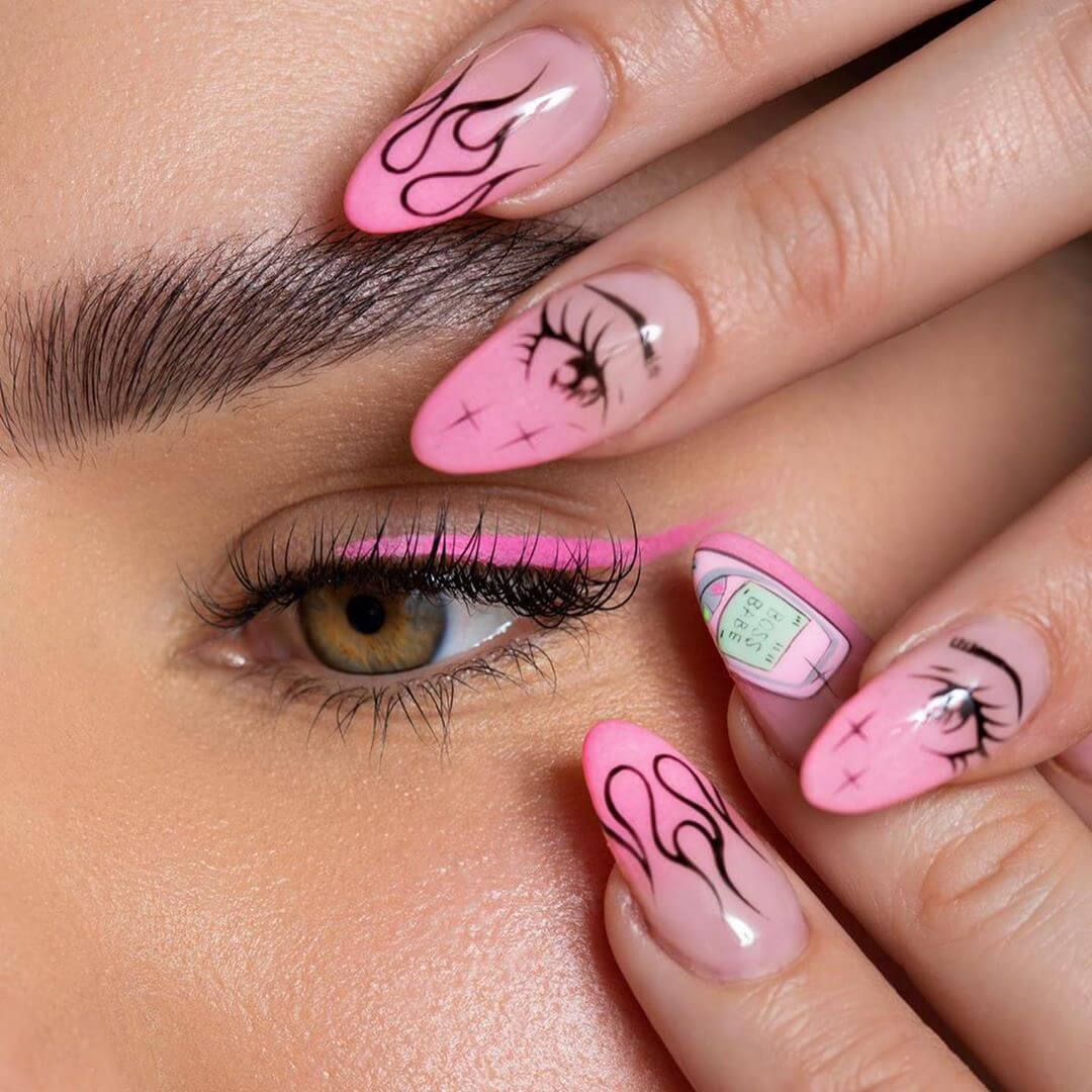 Eyes on these Pink Nail Art Designs
