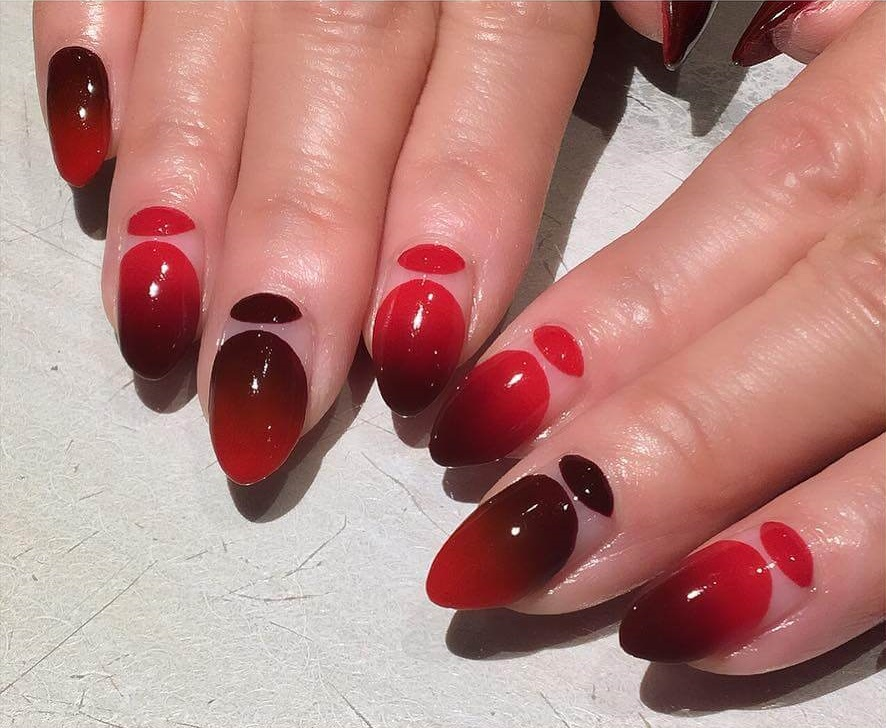 Cherries on Top Red and Black Nail Art Designs