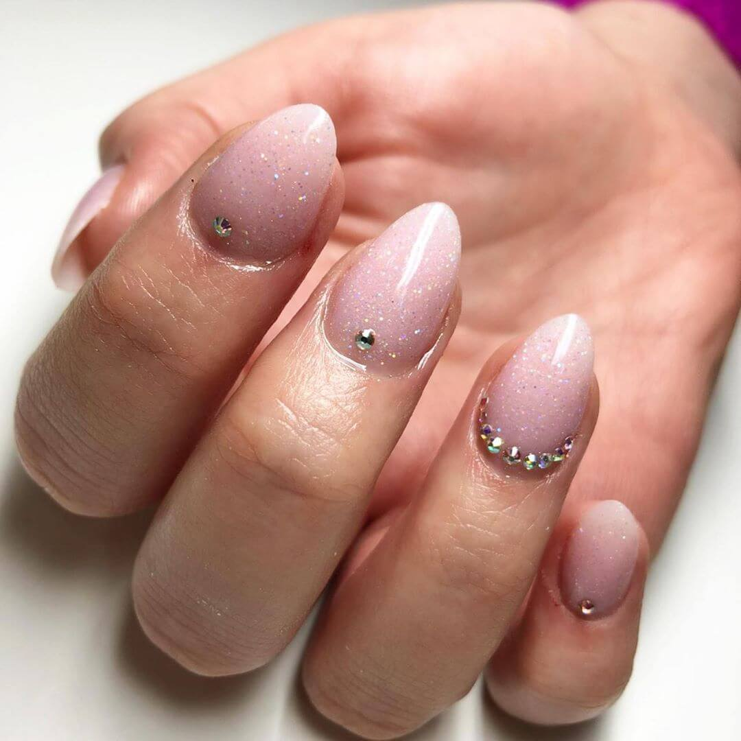 Less is More Rhinestone Nail Art Design
