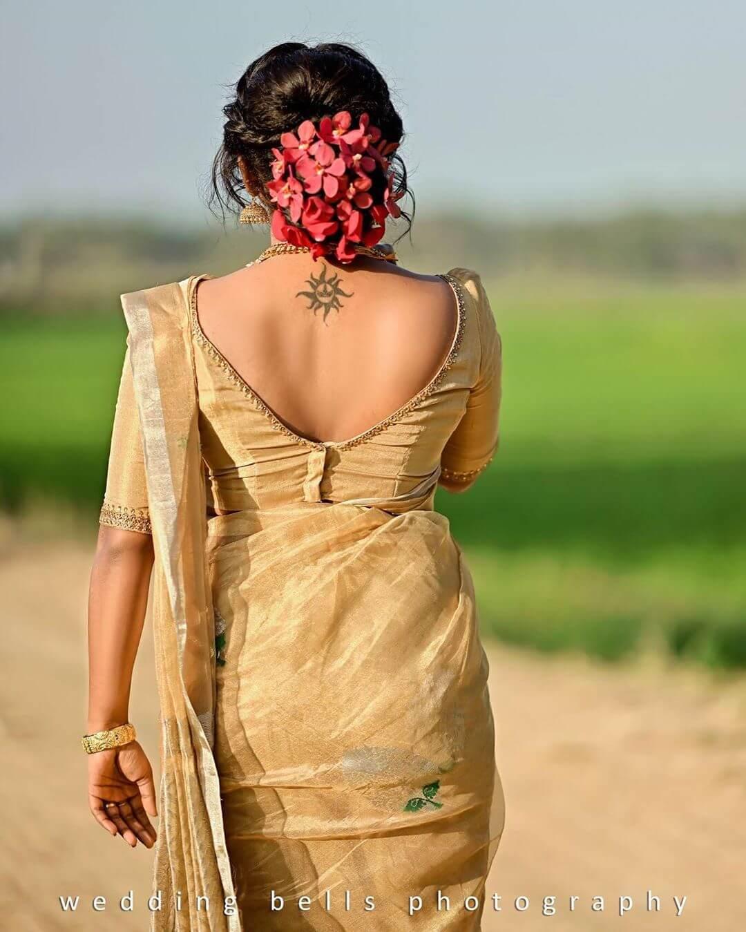 South Indian Real Bride Designer Blouse Designs