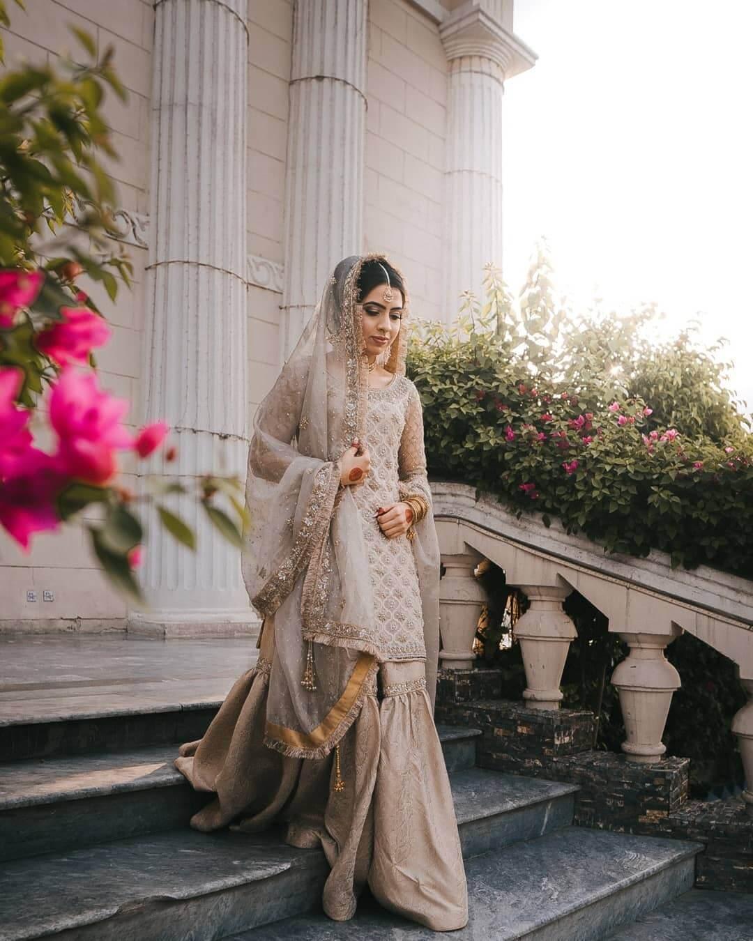 The Royal Grey Designer Sharara & Gharara Suits