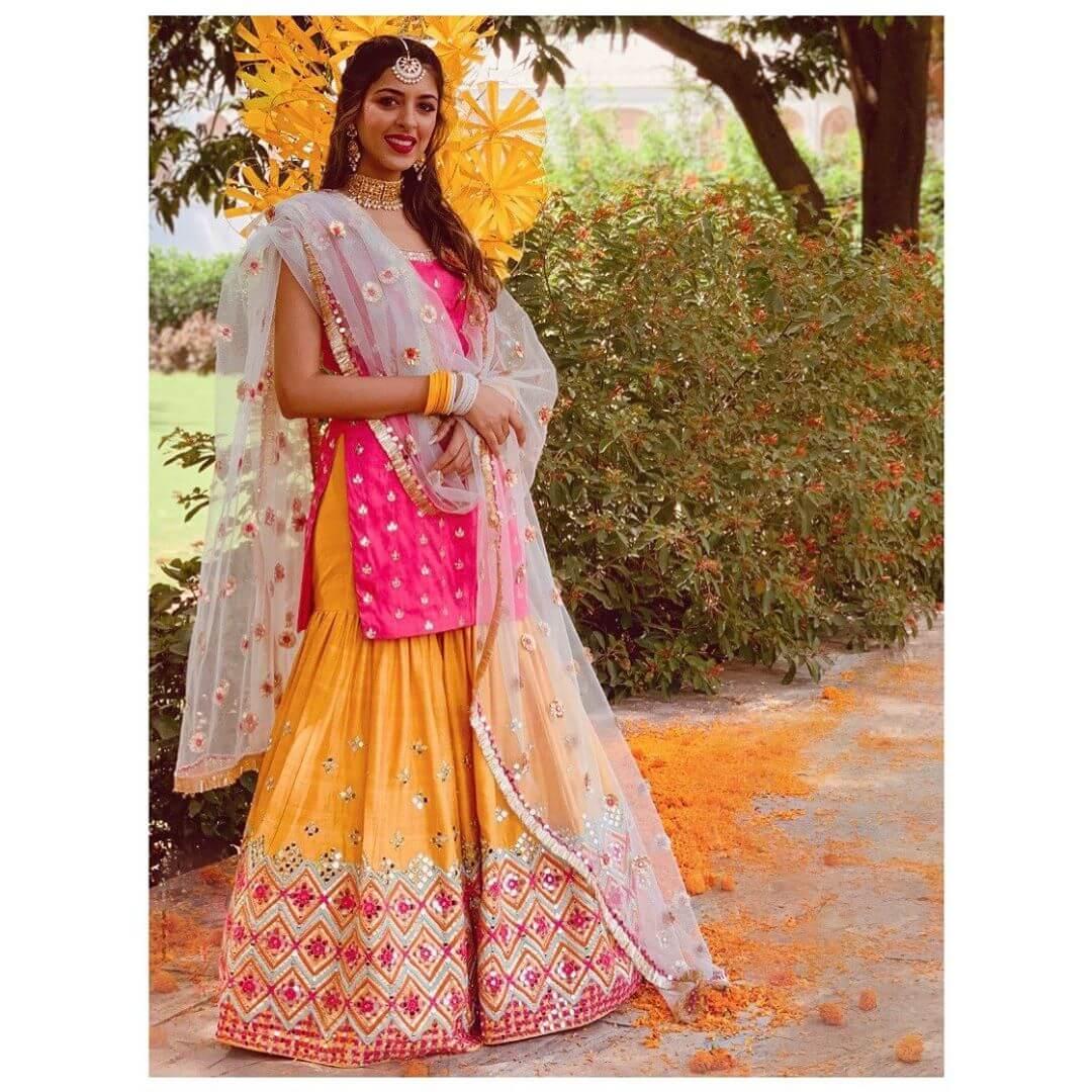Mix and Match of Colors Designer Sharara & Gharara Suits