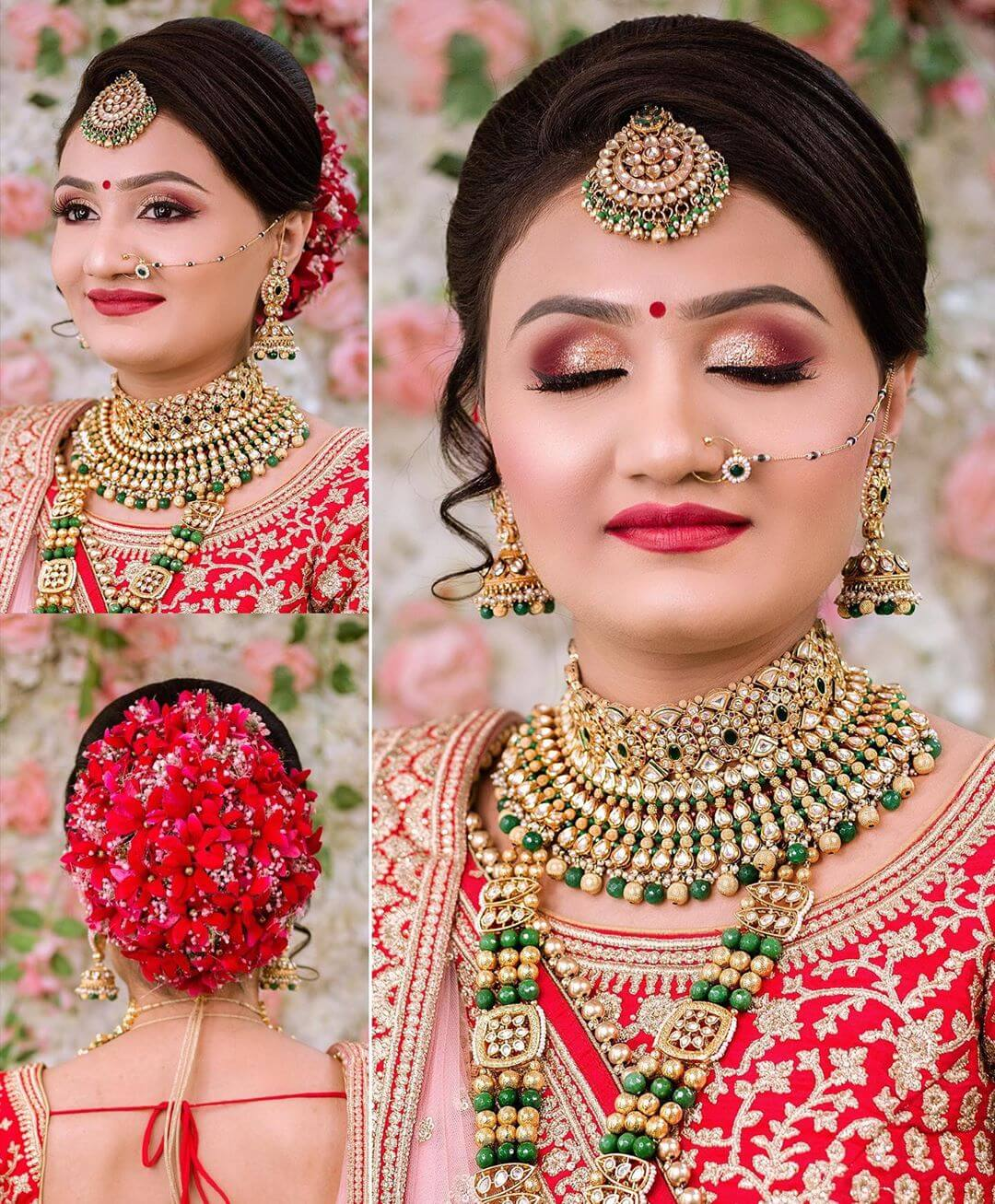 Sections And Flicks Gujrati Bridal Hairstyles