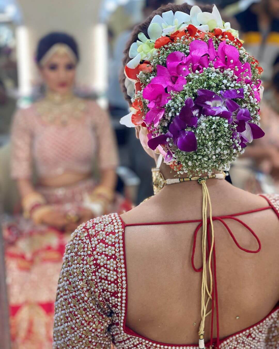 Splash Of Colors Gujrati Bridal Hairstyles