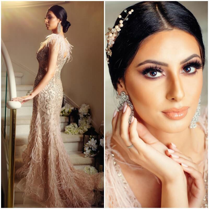 The Chignon Hairstyles with Gown for Indian Wedding