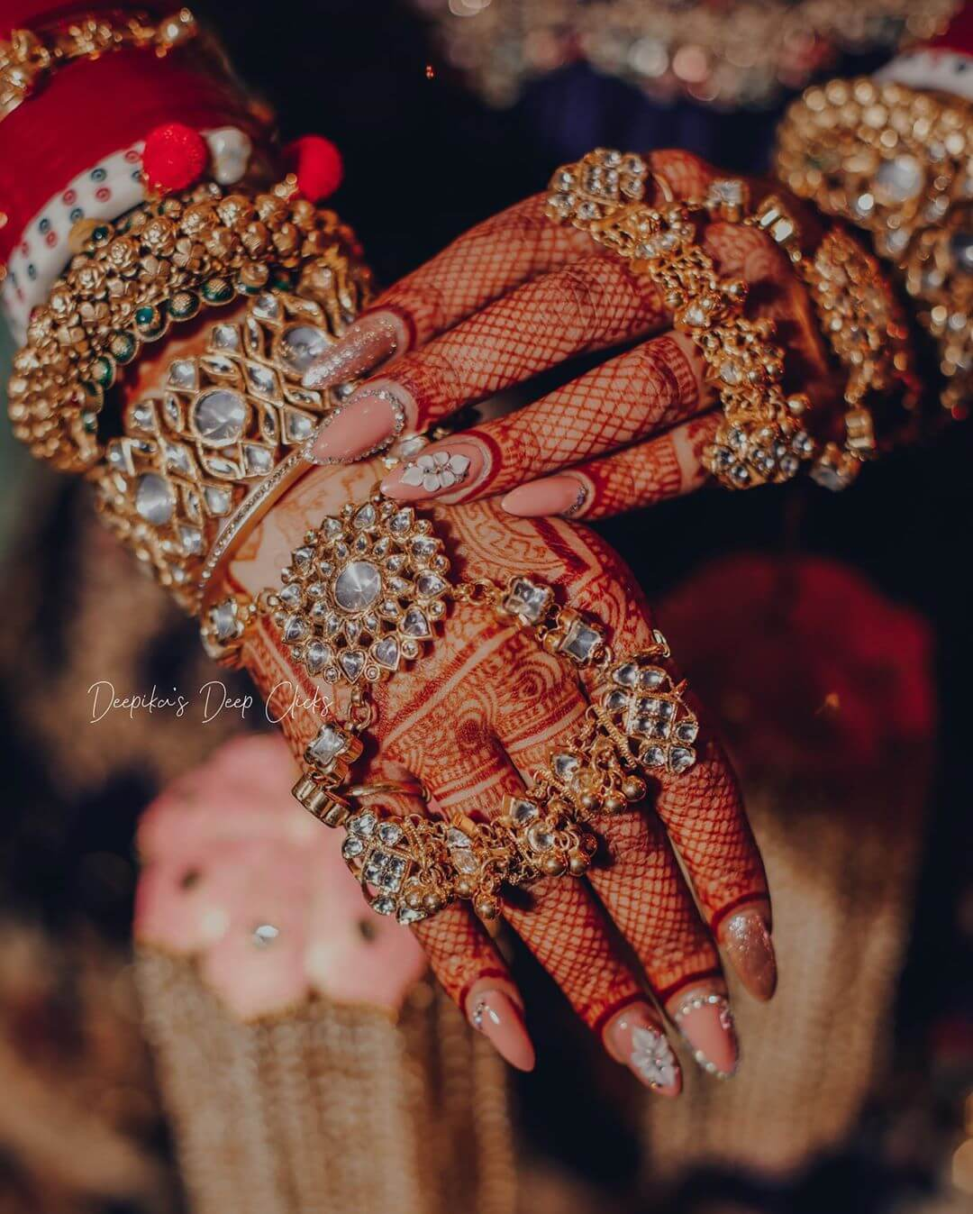 Hand cover haath phool For Indian Brides