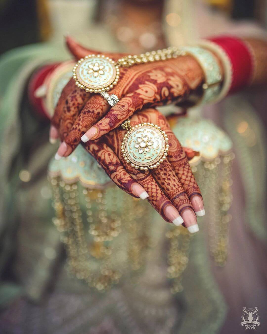 Formal haath phool For Indian Brides