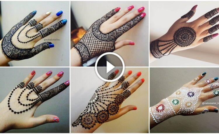 How to apply henna jewellery mehndi design