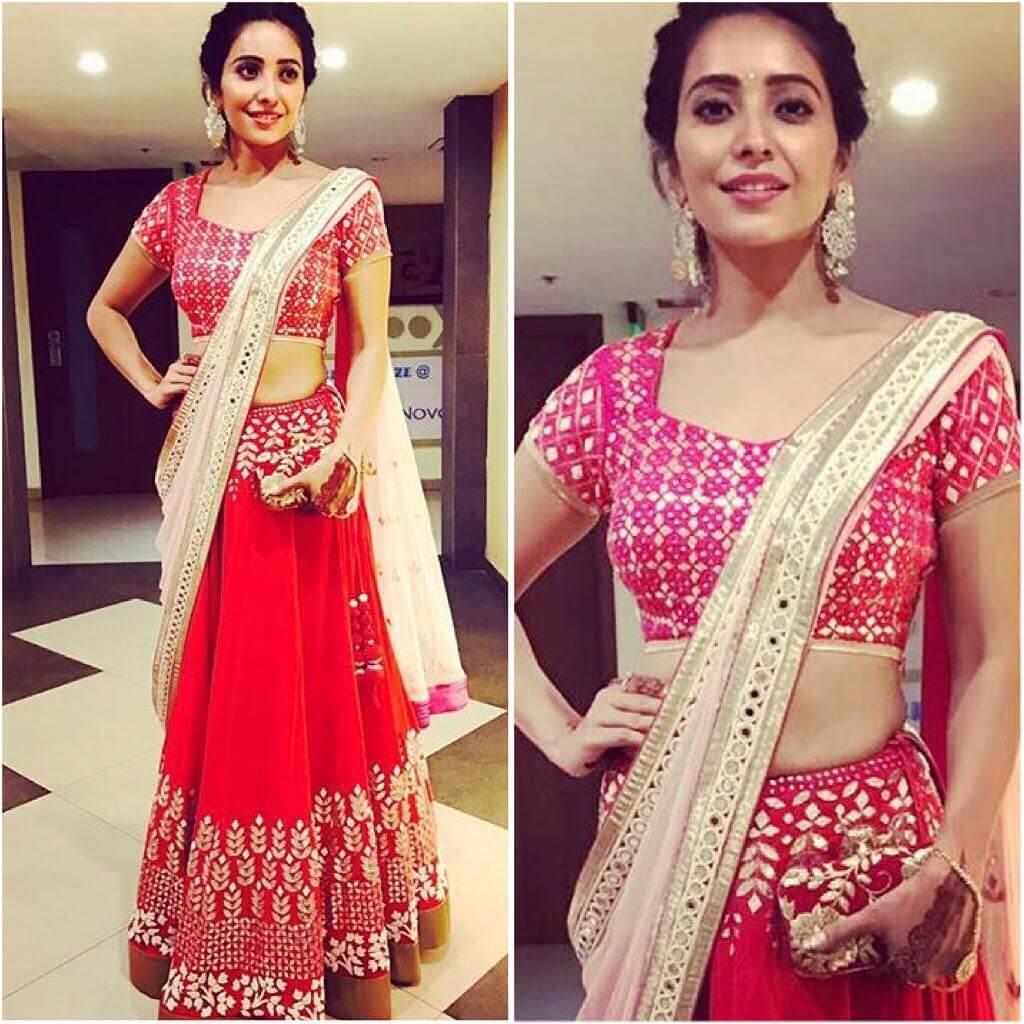 Asha Negi Lehenga Blouse Designs For Wedding