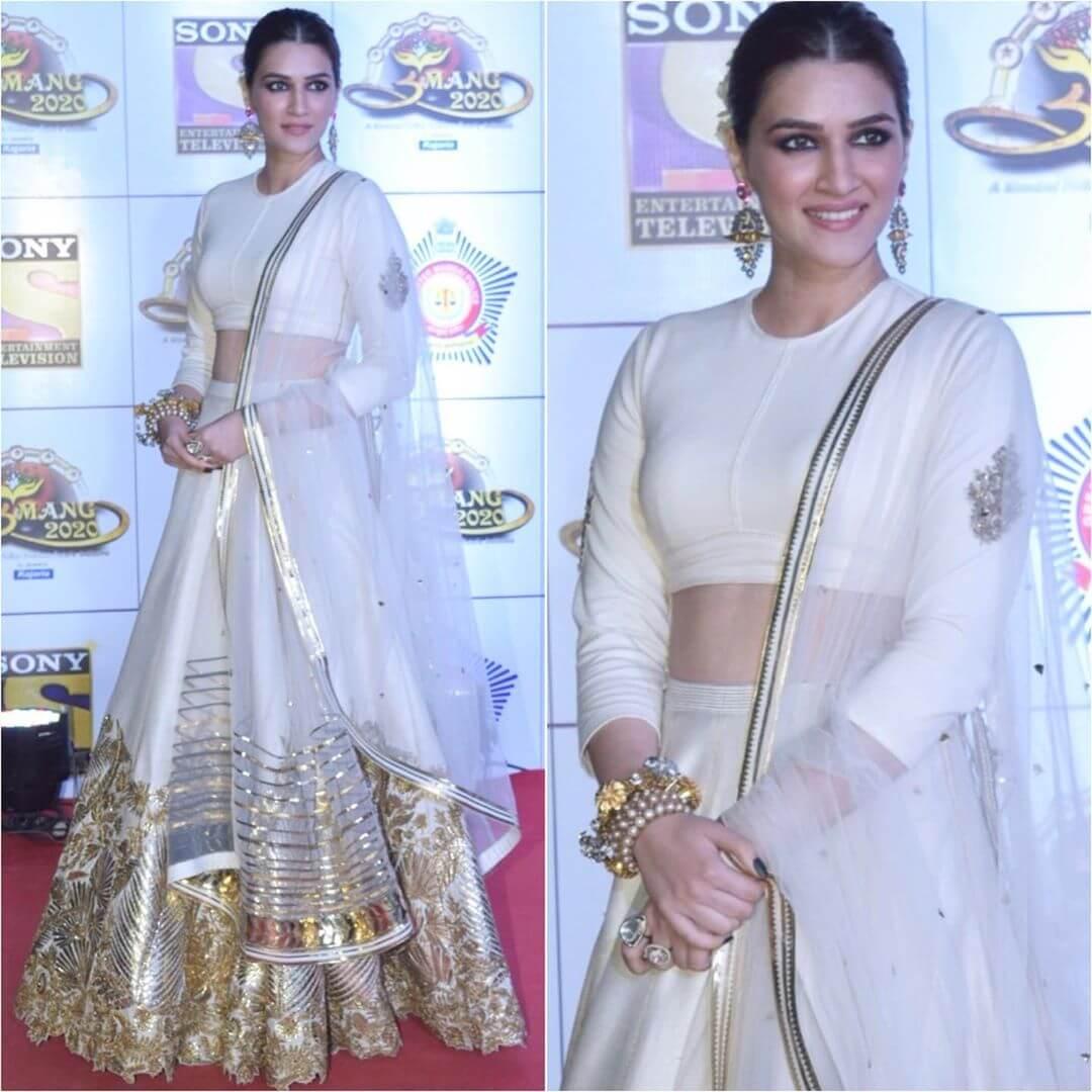 kriti Sanon Lehenga Blouse Designs With Full Sleeves For Wedding