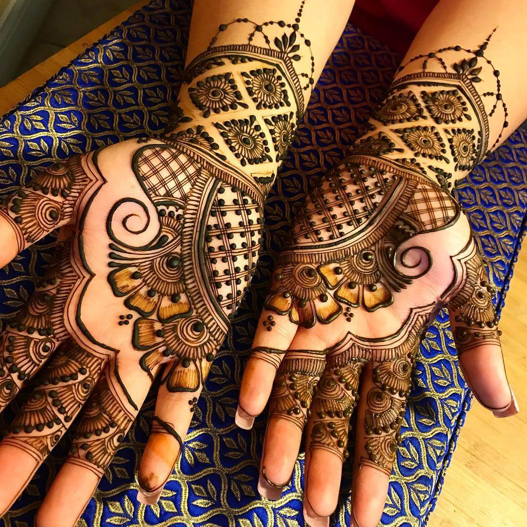 Mehndi Design With Dots For front side