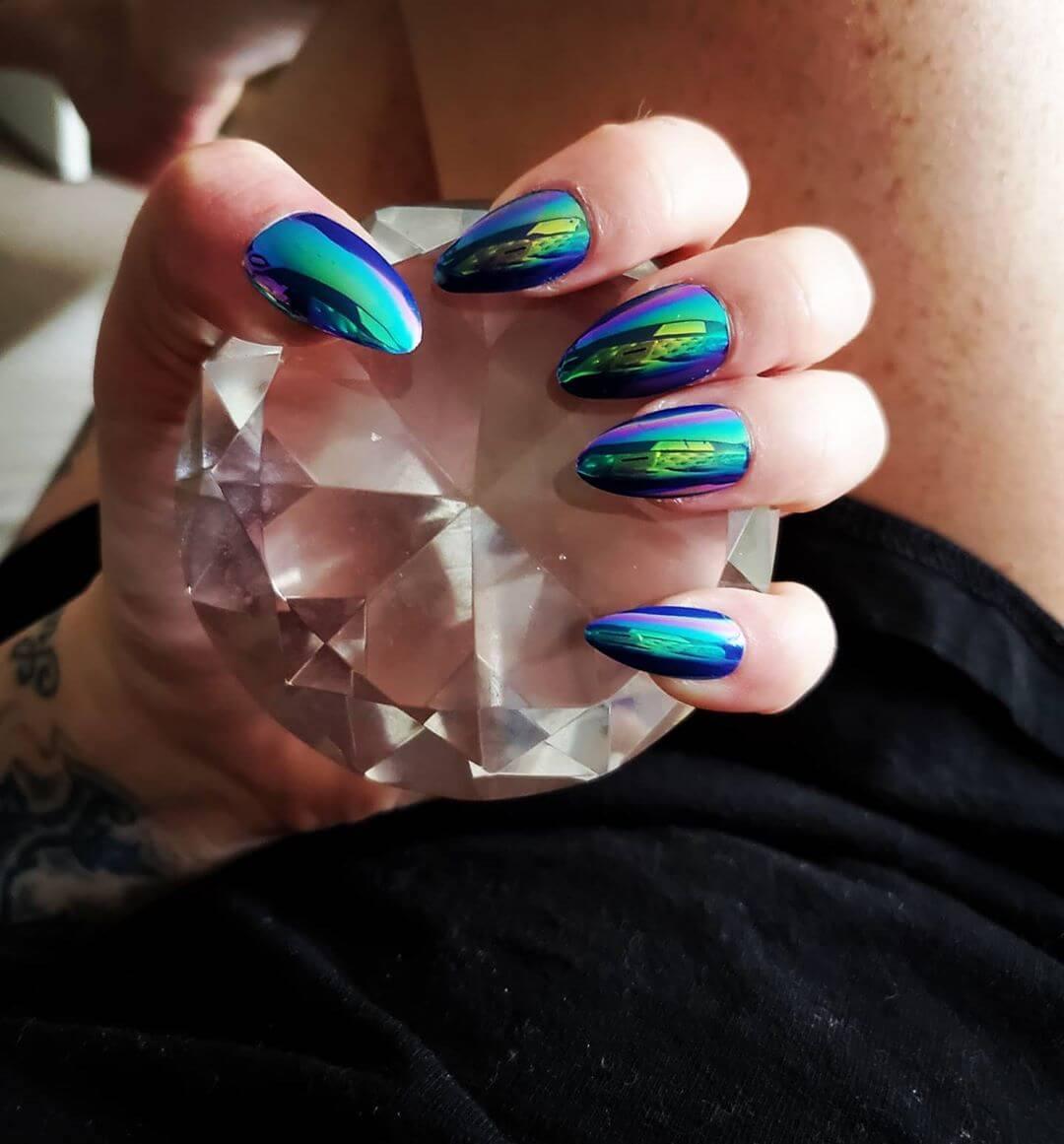 Dragon Wild Metallic Nail Art Designs