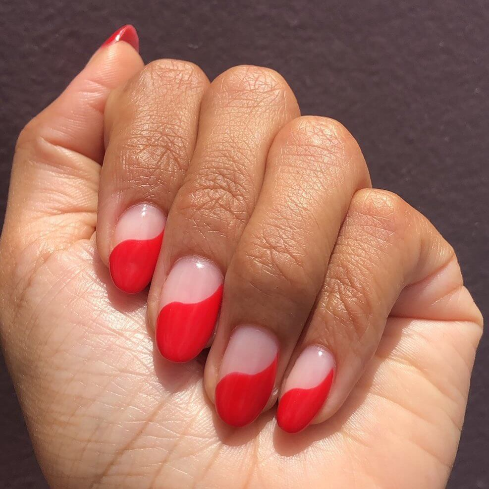 Summertime Wavy Red Nail Art Designs