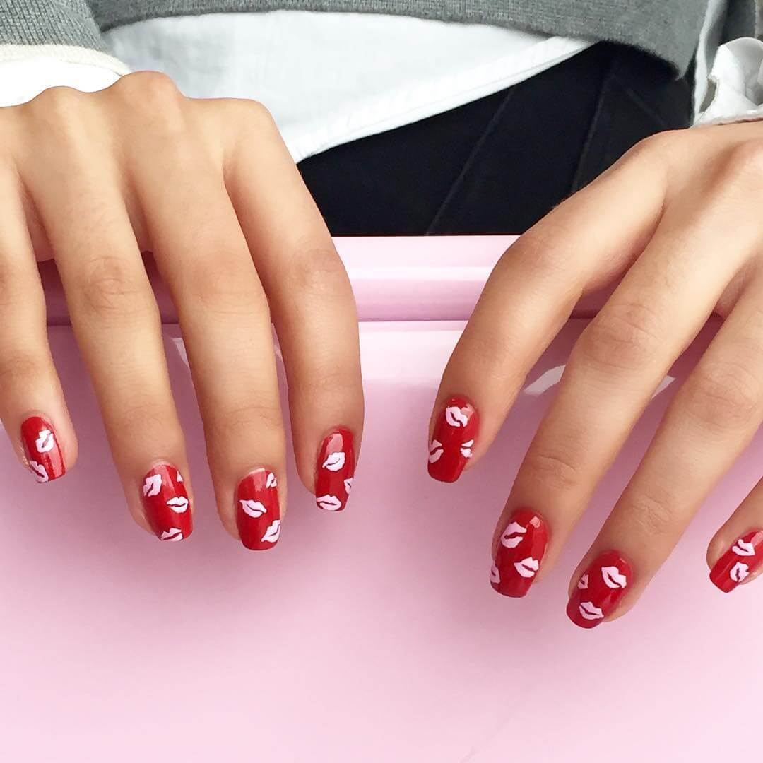 Valentines Day Red Nail Art Designs