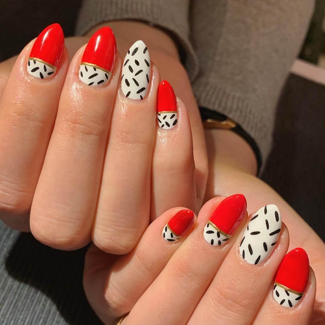 Classy Nail Red Nail Art Designs
