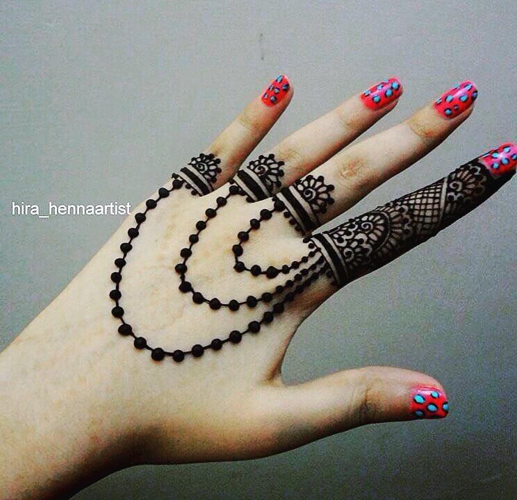 Jewellery Inspired Mehndi Design Like Slave Bracelet Mehndi Designs For Back Hand