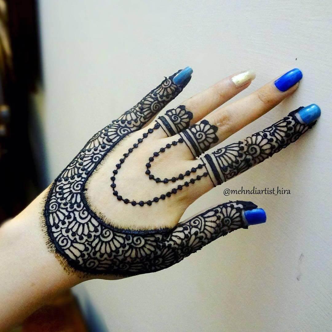 Jewellery Inspired Design Like Slave Bracelet And Necklace For Back Hand