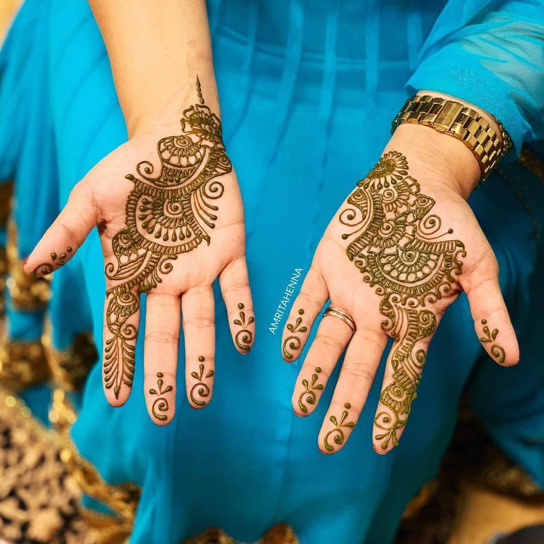 Bale Pattern Stylish Arabic Henna Mehndi Design For Hands