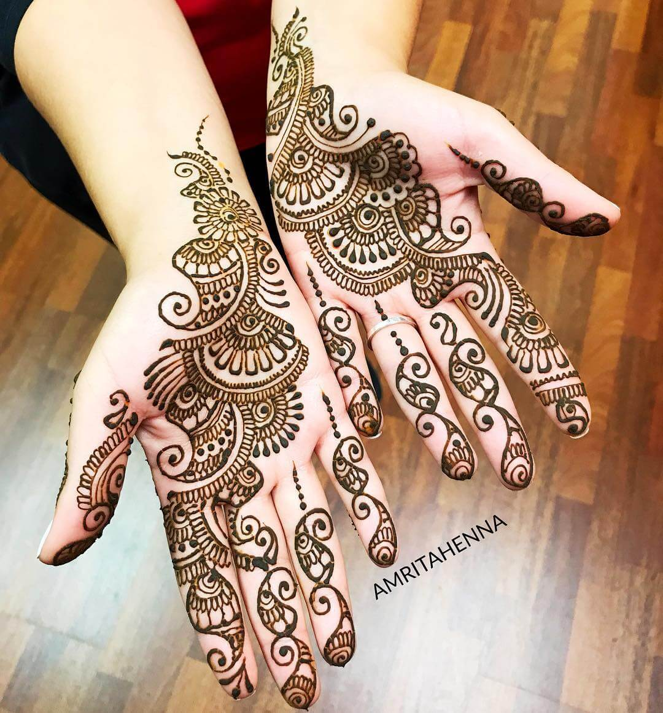Mugal Vibes Stylish Arabic Henna Mehndi Design For Hands