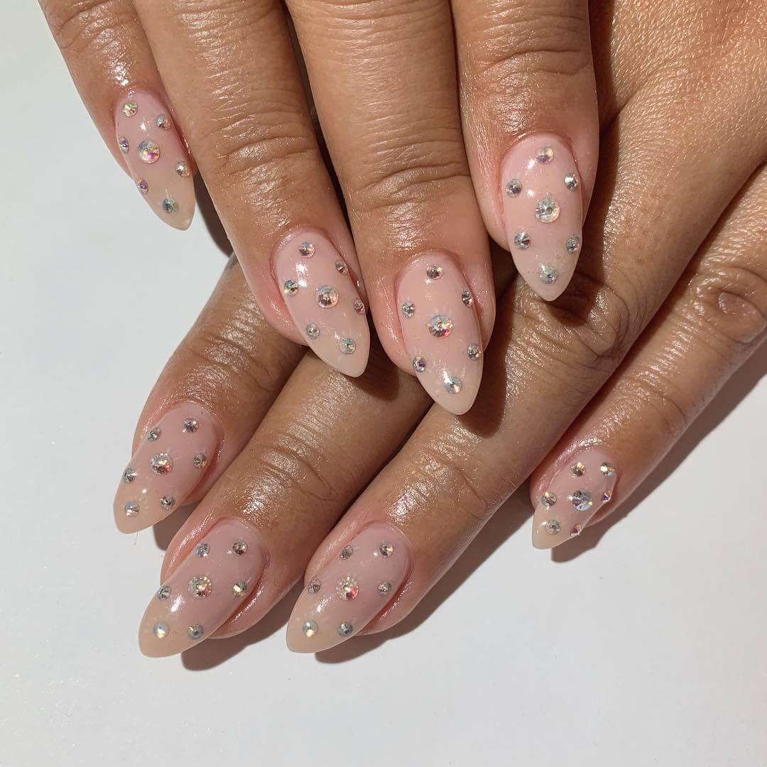 Galaxy Wedding Nail Art Designs