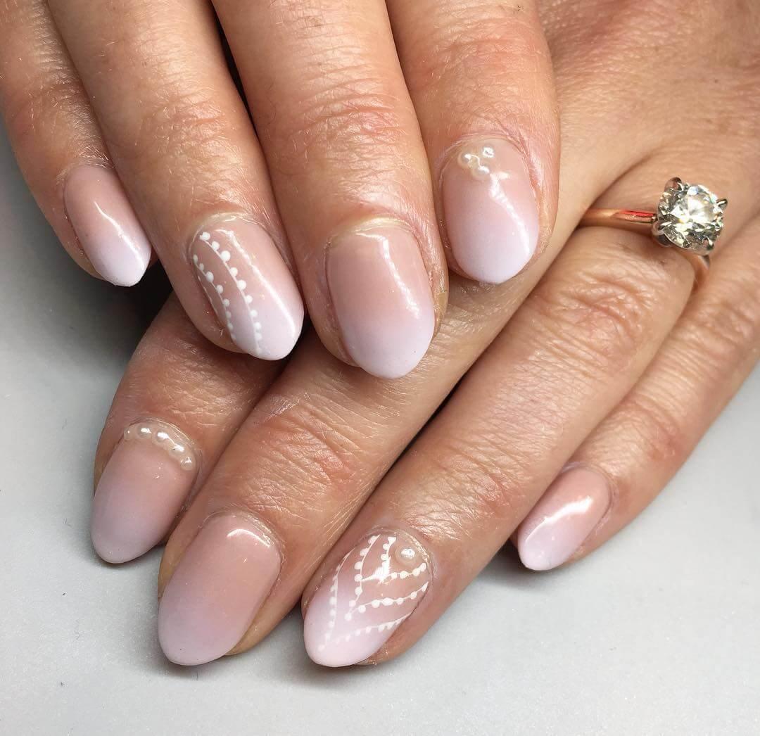 Foggy Wedding Nail Art Designs