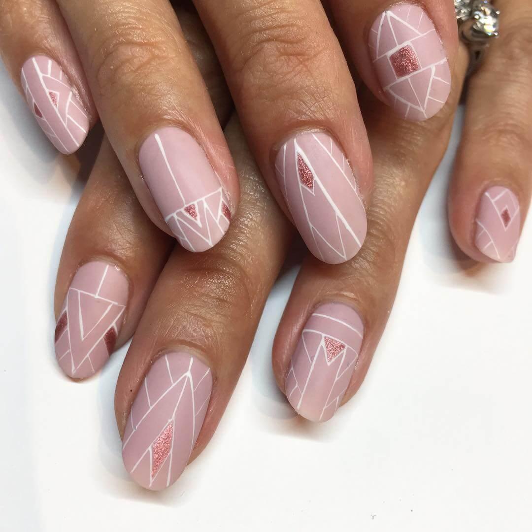 Folk art Wedding Nail Art Designs