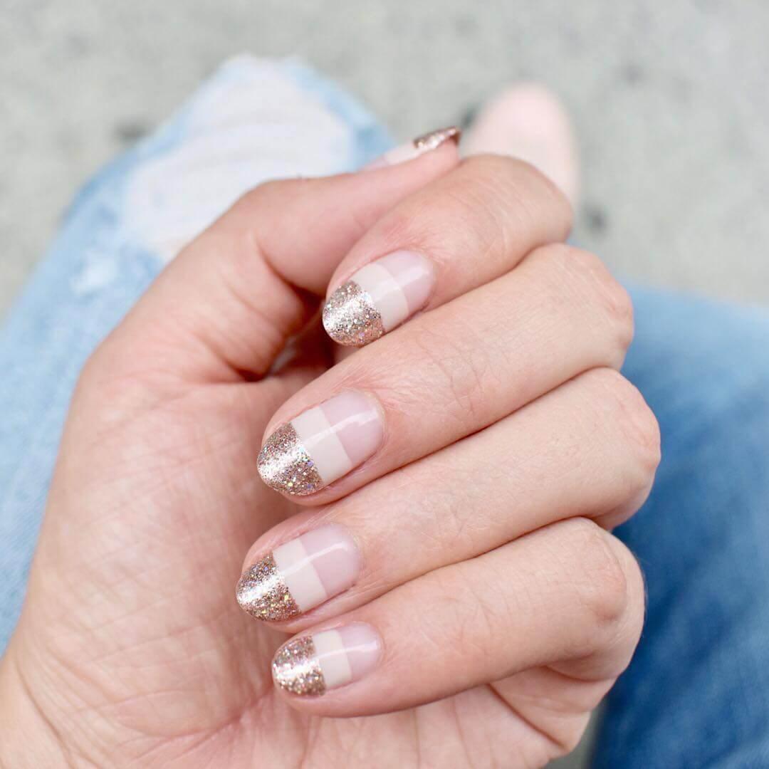 Three layer light Wedding Nail Art Designs